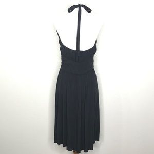 The Limited Dresses - The Limited Black Halter Top Midi Dress A070199